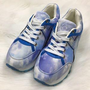 d42e7937b33f YRU Shoes - YRU Tune Tie Dye Cloud Platform Sneakers
